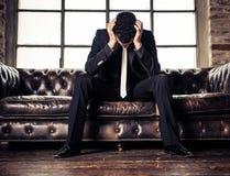 Homem deprimido Fotos de Stock Royalty Free
