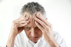 Homem deprimido Fotografia de Stock