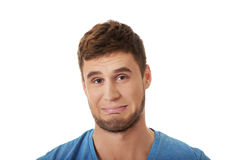 Homem deprimido novo Fotografia de Stock