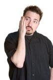 Homem deprimido triste imagem de stock
