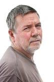 Homem desabrigado maduro, 3/4 de vista, Foto de Stock