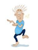 Homem descalço de dança e de canto engraçado Foto de Stock Royalty Free