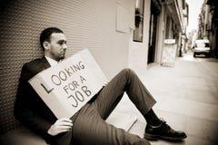 Homem desempregado Fotografia de Stock Royalty Free