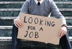 Homem desempregado Foto de Stock Royalty Free
