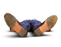Homem desmaiado Foto de Stock Royalty Free