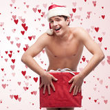 Homem despido engraçado Foto de Stock Royalty Free