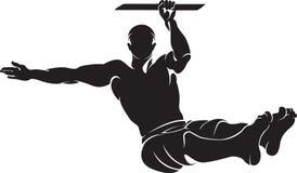 Homem desportivo que faz o exercício do exercício da rua Imagem de Stock Royalty Free