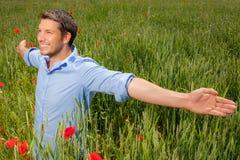 Homem despreocupado do sucesso Fotografia de Stock Royalty Free