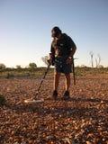 Homem, detecção do ouro. fotografia de stock