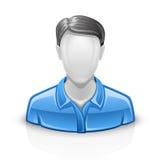 Homem do ícone do usuário Fotografia de Stock Royalty Free