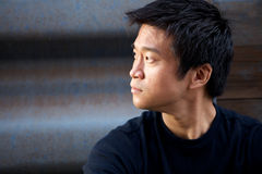 Homem do Asian de Interestng Fotografia de Stock Royalty Free