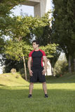 Homem do atleta no parque imagens de stock royalty free