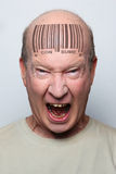 Homem do código de barra Imagem de Stock Royalty Free