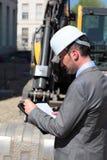 Homem do capacete de segurança Foto de Stock Royalty Free