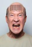 Homem do código de barra Fotografia de Stock Royalty Free