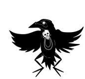 Homem do corvo da dança ilustração stock