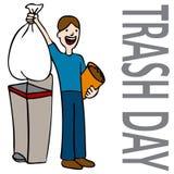 Homem do dia do lixo Fotografia de Stock
