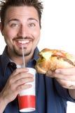 Homem do fast food Fotografia de Stock