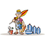 Homem do feriado ilustração royalty free