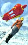 Homem do foguete de Steampunk Fotografia de Stock Royalty Free
