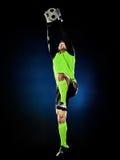 Homem do futebol do goleiros isolado Foto de Stock Royalty Free