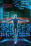 Homem do futuro do Cyber Foto de Stock
