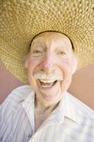 Homem do idoso em um chapéu de cowboy Foto de Stock