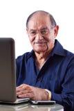 Homem do Indian do leste no computador imagem de stock