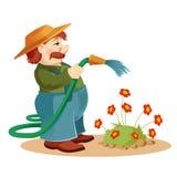 Homem do jardineiro Fotografia de Stock