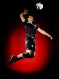 Homem do jogador da bola da salva isolado Foto de Stock
