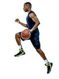 Homem do jogador de basquetebol isolado Fotografia de Stock