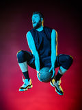 Homem do jogador de basquetebol isolado Fotos de Stock