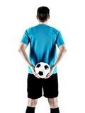 Homem do jogador de futebol isolado Fotografia de Stock