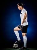 Homem do jogador de futebol isolado Imagens de Stock