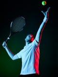 Homem do jogador de tênis Imagens de Stock Royalty Free