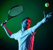 Homem do jogador de tênis Fotografia de Stock