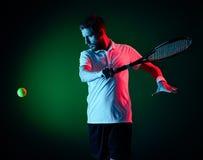 Homem do jogador de tênis Imagem de Stock Royalty Free