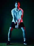 Homem do jogador de tênis Fotos de Stock