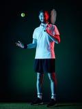 Homem do jogador de tênis Foto de Stock Royalty Free