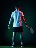 Homem do jogador de tênis Imagens de Stock