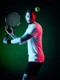 Homem do jogador de tênis isolado Fotografia de Stock Royalty Free