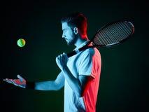 Homem do jogador de tênis isolado Imagem de Stock