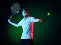 Homem do jogador de tênis isolado Foto de Stock