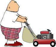 Homem do Lawnmower Imagem de Stock Royalty Free