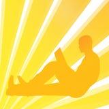 Homem do livro de leitura ilustração do vetor