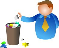 Homem do lixo ilustração stock