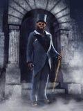 Homem do homem-lobo em um terno vitoriano Imagem de Stock Royalty Free