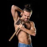 Homem do machado da higiene Imagens de Stock