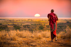 Homem do Masai de Tanzânia Fotografia de Stock Royalty Free