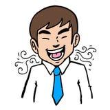 Homem do mau hálito Foto de Stock Royalty Free